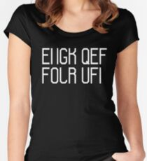 Fuck off hidden message Women's Fitted Scoop T-Shirt