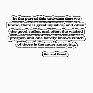 Universe we know, Bertrand Russell by insanevirtue
