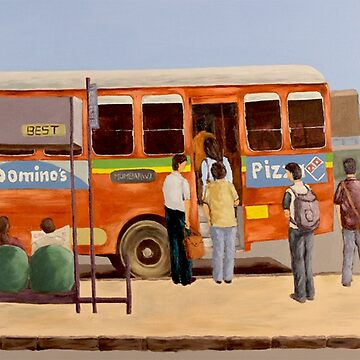 Mumbai City Bus Stop by Rampatil
