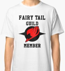 Fairy Tail Guild Member (red & black) Classic T-Shirt