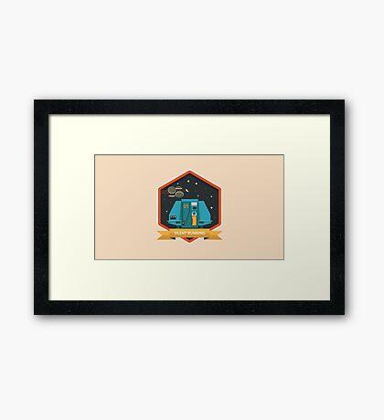 Silent Running Badge Framed Print