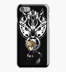 Cloud Strife and Fenrir - Version 1 iPhone Case/Skin