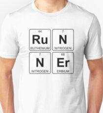 Ru N N Er - Runner - Periodic Table - Chemistry - Chest T-Shirt