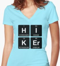 H I K Er - Hiker - Periodic Table - Chemistry - Chest Women's Fitted V-Neck T-Shirt