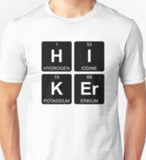 H I K Er - Hiker - Periodic Table - Chemistry - Chest Unisex T-Shirt