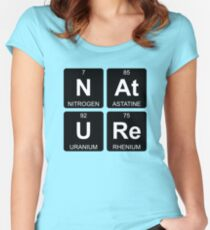 N At U Re - Nature - Periodic Table - Chemistry - Chest Women's Fitted Scoop T-Shirt