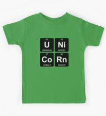 U Ni Co Rn - Unicorn - Periodic Table - Chemistry - Chest Kids Tee