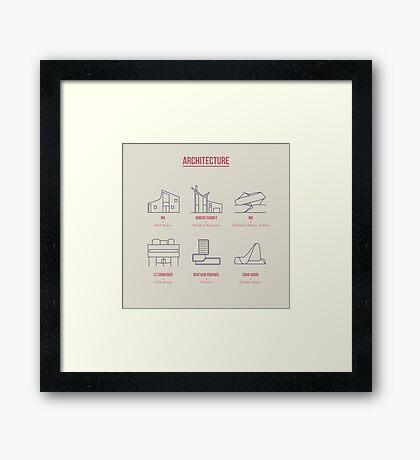 Architecture Line Design Framed Print