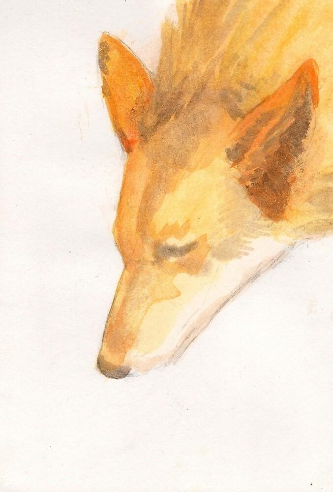 Watercolour Fox by sianbrierley