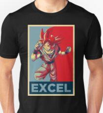 """SSG Goku Poster -- """"Excel"""" [V2] Unisex T-Shirt"""