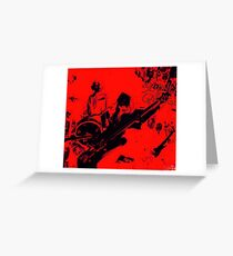 #39 The Righteous Sons of Edo aka Drgon Bomb ii - Science Garage Greeting Card