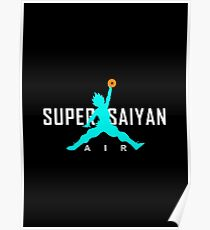 Air Super Saiyan God - SSGSS Blue Poster