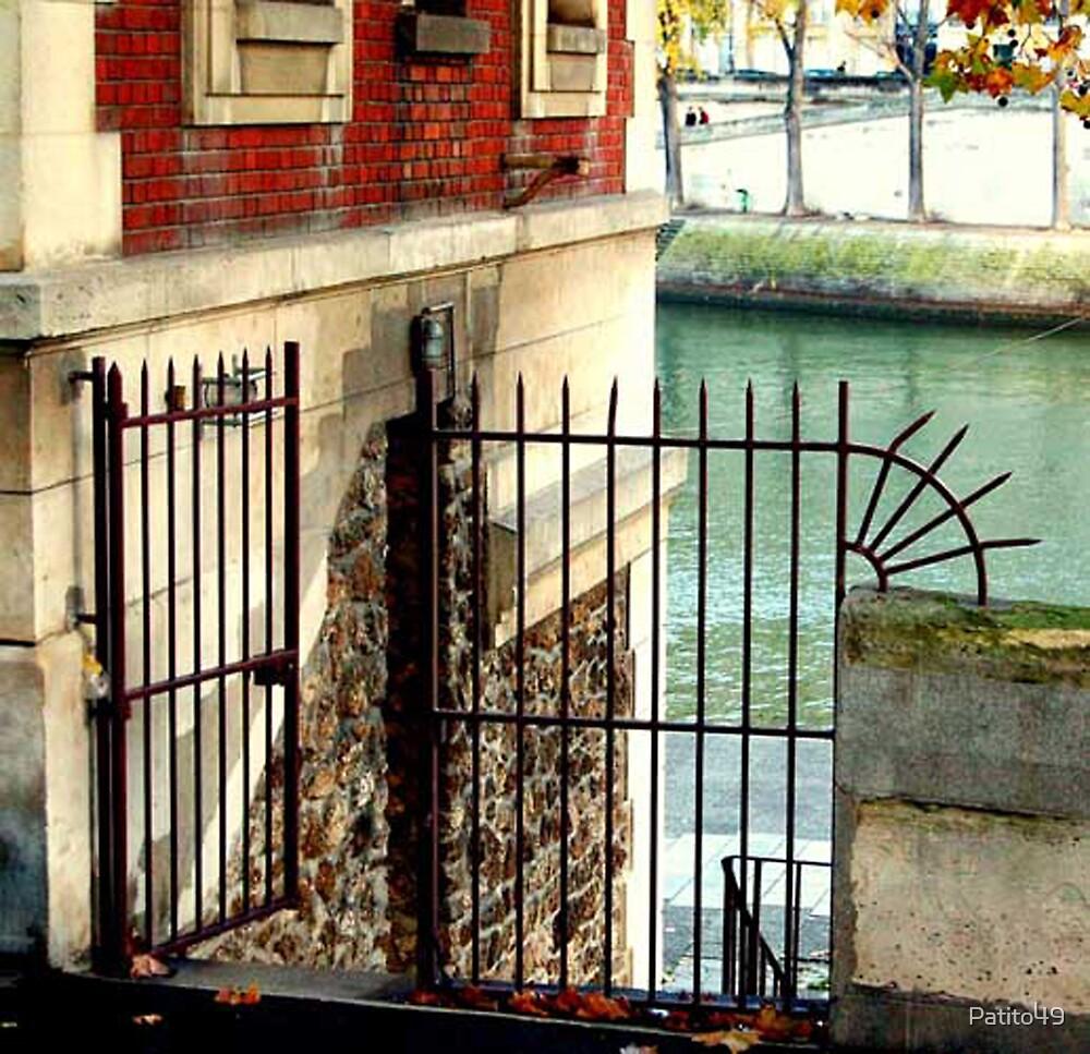 Open Gate on the River Seine by Patito49