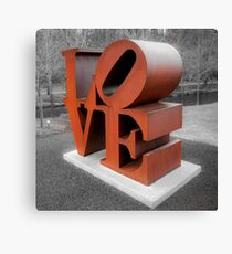 Vintage Love Sculpture - Crystal Bridges Museum of Art 1x1 Canvas Print