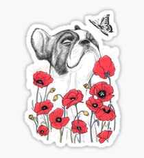 Pug in flowers Sticker