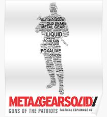 Metal Gear Solid 4: Guns of the Patriots - Old Snake - Typography  Poster
