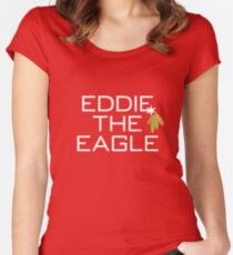 Eddie the Eagle Women's Fitted Scoop T-Shirt