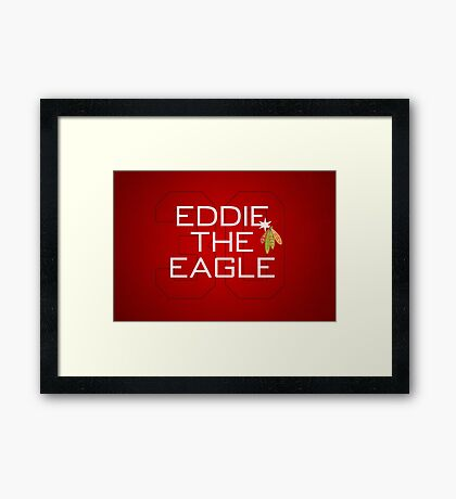 Eddie the Eagle Framed Print
