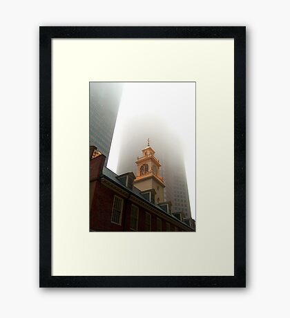 old with new Framed Print