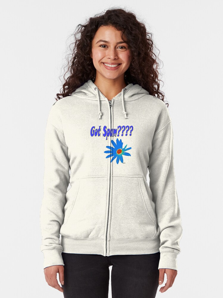 Alternate view of Got Spam ????? Zipped Hoodie