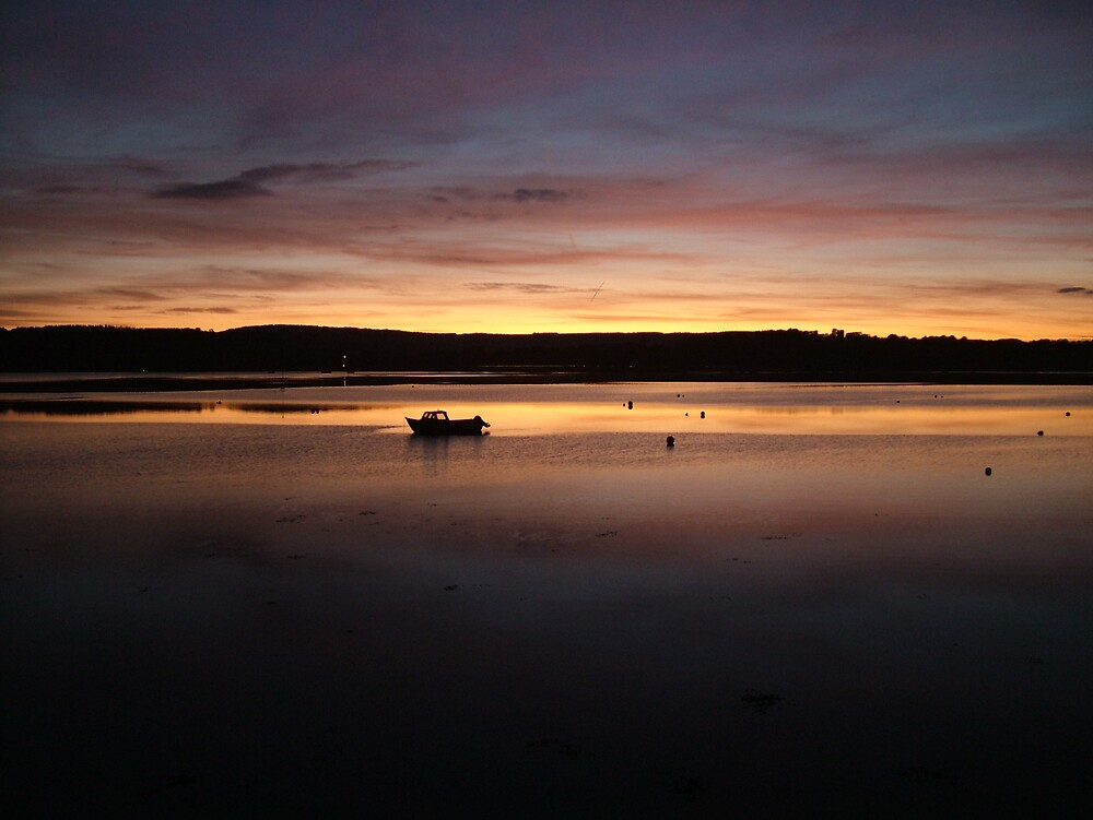 Sunset over the river exe Lympstone by rationassasin