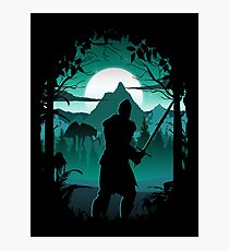 Warden Silhouette Photographic Print