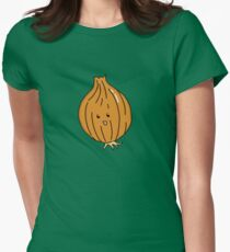 Veggie Onion Womens Fitted T-Shirt