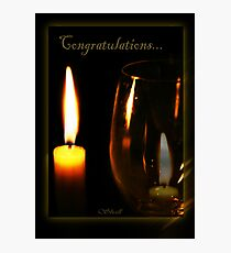 Congratulations! Photographic Print