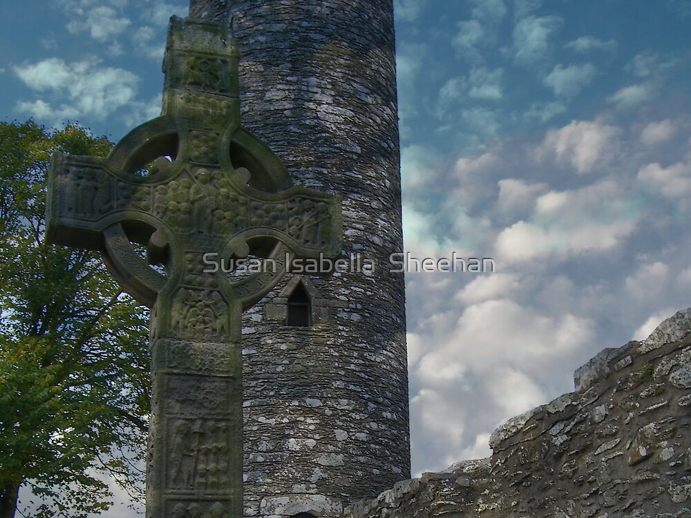 Muiredach's Cross - Monasterboice by Susan Isabella  Sheehan