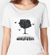 tree and grass Women's Relaxed Fit T-Shirt