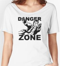 Archer Danger Zone FX TV Funny Cartoon Cotton Blend Women's Relaxed Fit T-Shirt