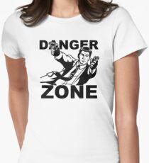 Archer Danger Zone FX TV Funny Cartoon Cotton Blend Womens Fitted T-Shirt
