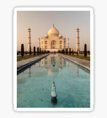 Taj Mahal Reflection India Sticker