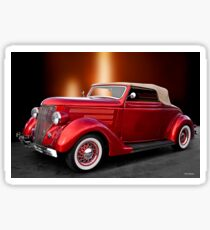 1936 Ford 'Candy Apple' Convertible Sticker