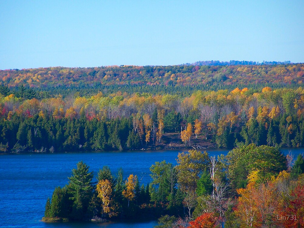Fall Colors Overlooking The Ausable by Lin731