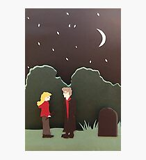Buffy and Spike Photographic Print
