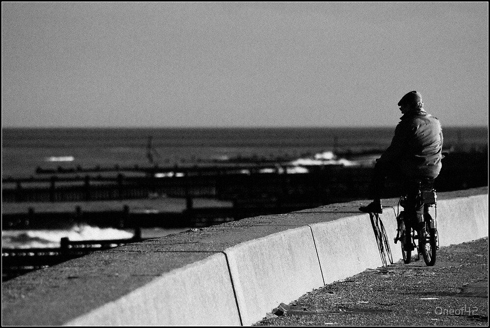 Stopping to watch the waves by Oneof42