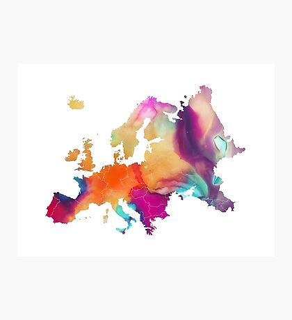 Europe map Photographic Print