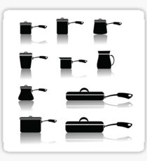 set of pots and pans Sticker