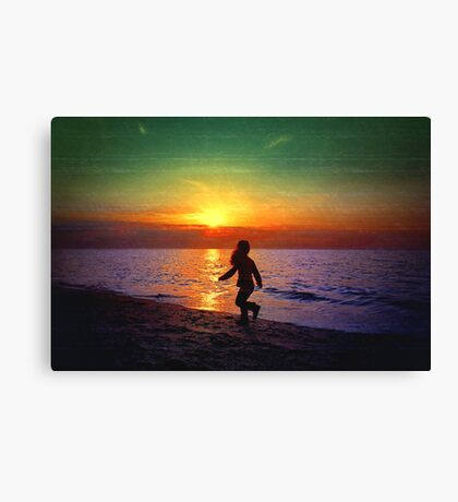 Painted sunset.. Canvas Print