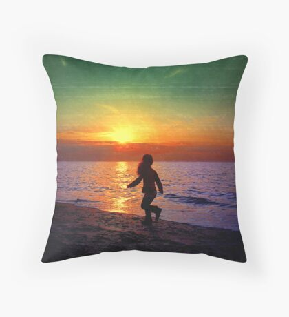 Painted sunset.. Throw Pillow