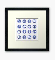 medical icons Framed Print