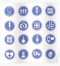 medical icons Poster