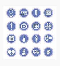 medical icons Photographic Print