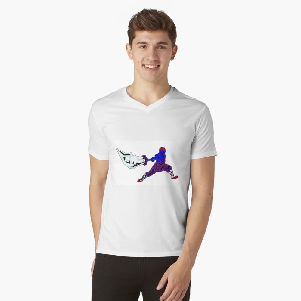 Shaolin-Bot T-Shirt mit V-Ausschnitt für Männer Front