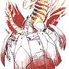 Cyborg baby dragon - Fire by lushanarts