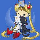 Crazy Moon Cat Lady by dooomcat