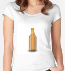 bottle of beer Women's Fitted Scoop T-Shirt