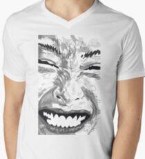 Smile T-Shirt mit V-Ausschnitt für Männer