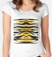 zoo pattern Women's Fitted Scoop T-Shirt